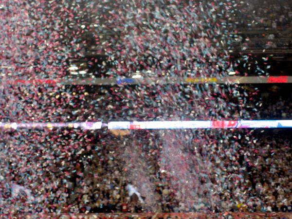 Confetti Blowing Everywhere
